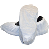 Safety Zone White Cast Polyethylene .CPE Embossed Shoe Cover Large SFZ DSC-CPE-LG-WH
