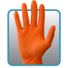 Safety Zone Orange Powder Free Nitrile Gloves SFZ GNPR-LG-1M-OR