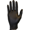 gloves: Safety Zone - Black Nitrile Disposable Textured Gloves