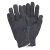 Safety Zone Mens Gray Medium Weight String Knit Gloves SFZ GSMW-MN-2C-GY