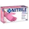 safety zone: Safety Zone - Powder Free Pink Nitrile Gloves - Medium
