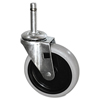 "utility carts, trucks and ladders: Replacement Swivel Bayonet Casters, 4"" Wheel, Thermoplastic Rubber, Black"