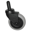 Rubbermaid Commercial Replacement Swivel Bayonet Casters, 3 Wheel, Thermoplastic Rubber, Black SGS 7570L2