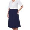 Silverts Womens Regular Elastic Waist Skirt With Pockets SIL 131310306