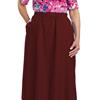 Silverts Womens Regular Elastic Waist Skirt With Pockets SIL 131311106