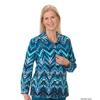 Silverts Womens Regular Long Sleeve Convertible Collar Blouse SIL 133713302