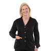 Silverts Women's Open Back Adaptive Fleece Cardigan With Pockets SIL232500903