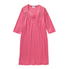 Silverts Womens Lace-Trimmed Hospital Gown - Open Back - Back Snap SIL 262100402
