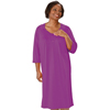 Silverts Womens Lace-Trimmed Hospital Gown - Open Back - Back Snap SIL 262100501