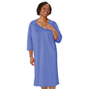 Silverts Womens Lace-Trimmed Hospital Gown - Open Back - Back Snap SIL 262100602