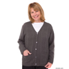 adaptive apparel: Silverts - Adaptive Open Back Warm Weight Cardigan Sweater With Pockets
