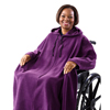 workwear dress coats: Silverts - Wheelchair Poncho Fleece Capes