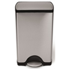 waste receptacles: Simplehuman - 38L (10 Gallon) Rectangular Step Can Waste Receptacle