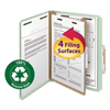 Smead Smead® 100% Recycled Pressboard Classification Folders SMD13723