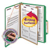 Smead Smead® 4-Section Pressboard Top Tab Classification Folders w/SafeSHIELD™ Coated Fastener SMD 13733
