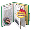 Smead Smead® 6-Section Colored Pressboard Top Tab Classification Folders with SafeSHIELD™ Coated Fastener SMD14033