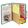 Clean and Green: Smead® 6-Section Pressboard Top Tab Pocket-Style Classification Folders with SafeSHIELD™ Coated Fastener