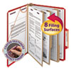 Smead Smead® Colored Pressboard 8-Section Top Tab Classification Folders with SafeSHIELD™ Coated Fastener SMD14095