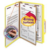 Clean and Green: Smead® 4-Section Pressboard Top Tab Classification Folders w/SafeSHIELD™ Coated Fastener