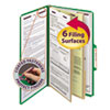 Smead Smead® 6-Section Colored Pressboard Top Tab Classification Folders with SafeSHIELD™ Coated Fastener SMD19033