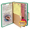 Smead Smead® 6-Section Pressboard Top Tab Pocket-Style Classification Folders with SafeSHIELD™ Coated Fastener SMD19083