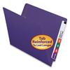 Clean and Green: Smead® Heavyweight Colored End Tab Folders with Fasteners