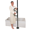 Bathroom Aids Rails Grab Bars: Stander - Security Pole & Curve Grab Bar