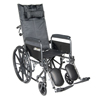 IV Supplies Extension Sets: Drive Medical - Silver Sport Reclining Wheelchair with Elevating Leg Rests