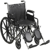 "Rehabilitation: Drive Medical - Silver Sport 2 Wheelchair, Detachable Full Arms, Swing away Footrests, 16"" Seat"