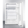 Summit Appliance Energy Star Qualified Refrigerator-Freezer with ADA Compliant Counter Height; Auto Defrost and White Exterior SMA FF412ESADA