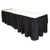 Tablemate Tablemate® Table Set® Linen-Like Table Skirting TBL LS2914BK