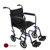 "Rehabilitation: Compass Health Brands - ProBasics® 19"" Lightweight Aluminum Transport Wheelchair, Burgundy"