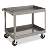 Janitorial Carts, Trucks, and Utility Carts: Tennsco Two-Shelf Metal Cart