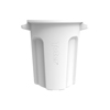 Toter 20 Gal. Round Trash Can with Lift Handle - Bright White TOTRND20-B0111