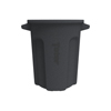 Toter 20 Gal. Round Trash Can with Lift Handle - Dark Gray Granite TOTRND20-B0149