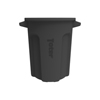 Toter 20 Gal. Round Trash Can with Lift Handle - Black TOTRND20-B0200