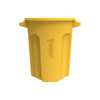 Toter 20 Gal. Round Trash Can with Lift Handle - Yellow TOTRND20-B0390