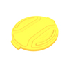 Toter 20 Gal. Round Trash Can Lid - Yellow TOTRND20-L0390