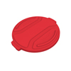Toter 20 Gal. Round Trash Can Lid - Red TOTRND20-L0570