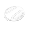 Toter 32 Gal. Round Trash Can Lid - Bright White TOTRND32-L0111