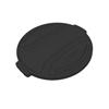Toter 32 Gal. Round Trash Can Lid - Black TOTRND32-L0200