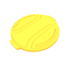 Toter 32 Gal. Round Trash Can Lid - Yellow TOTRND32-L0390