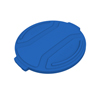 Toter 32 Gal. Round Trash Can Lid - Blue TOTRND32-L0705