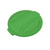 Toter 32 Gal. Round Trash Can Lid - Bright Lime Green TOTRND32-L0780