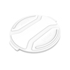 Toter 44 Gal. Round Trash Can Lid - Bright White TOTRND44-L0111