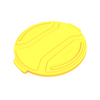 Toter 44 Gal. Round Trash Can Lid - Yellow TOTRND44-L0390