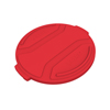Toter 44 Gal. Round Trash Can Lid - Red TOTRND44-L0570