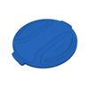 Toter 44 Gal. Round Trash Can Lid - Blue TOTRND44-L0705