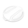 Toter 55 Gal. Round Trash Can Lid - Bright White TOTRND55-L0111