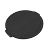 Toter 55 Gal. Round Trash Can Lid - Black TOTRND55-L0200